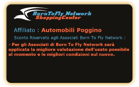 Automobili Poggino a Viterbo - Agevolazioni per gli Associati di Born To Fly Network